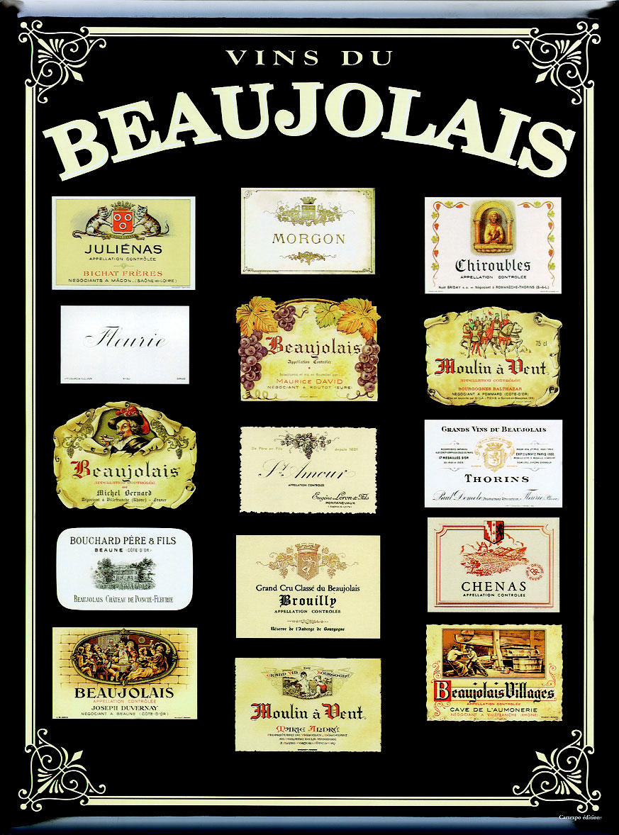 Les appellations du Beaujolais
